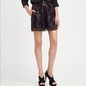 Diane von Furstenberg plum sequin shorts